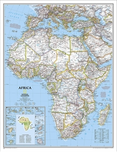Picture of National Geographic Africa Wall Map Enlarged