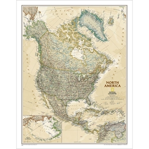 Picture of National Geographic North America Executive Wall Map