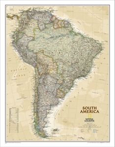 Picture of National Geographic South America Executive Wall Map