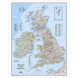 Picture of National Geographic Britain and Ireland Wall Map