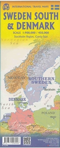 Picture of International Travel Maps - Denmark & Southern Sweden