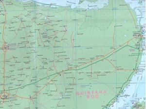 Picture of International Travel Maps - Yucatan Travel Map