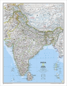 Picture of National Geographic India Wall Map