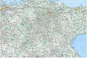 Picture of International Travel Maps - Baltic States