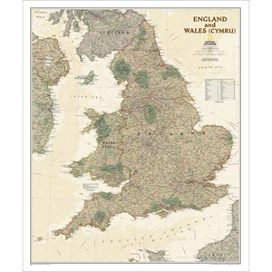 Picture of National Geographic England and Wales Executive Wall Map
