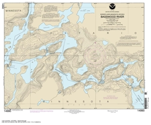 Picture of 14990 - Boundary Waters - Basswood River Nautical Chart