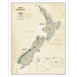 Picture of National Geographic New Zealand Executive Wall Map
