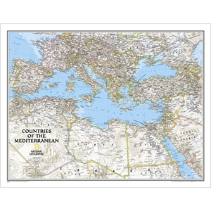 Picture of National Geographic Countries of the Mediterranean  Wall Map