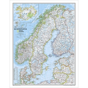Picture of National Geographic Scandinavia  Wall Map