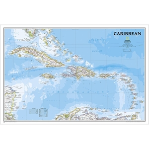Picture of National Geographic Caribbean  Wall Map