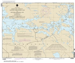 Picture of 14994 - Boundary Waters - Eastern Kabetogama Lake And Western Namakan Lake Nautical Chart