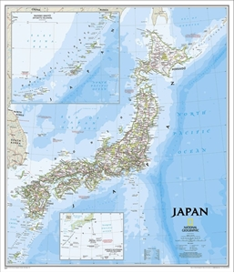 Picture of National Geographic Japan Wall Map