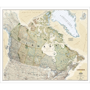 Picture of National Geographic Canada Executive Wall Map