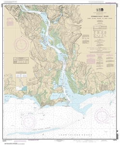 Picture of 12375 - Connecticut River - Long Island Sound To Deep River Nautical Chart