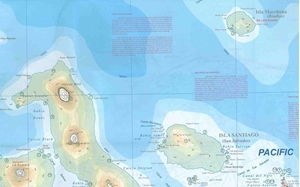 Picture of International Travel Maps - Galapagos Islands, Quito and Guayaquil Travel Map