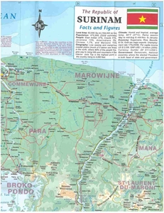 Picture of International Travel Maps - Suriname & French Guiana Travel Map