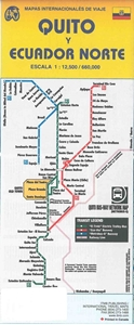 Picture of International Travel Maps - Quito and Ecuador North Travel Map