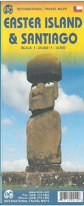 Picture of International Travel Maps - Easter Island & Santiago