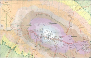 Picture of International Travel Maps - Kilimanjaro & Tanzania North