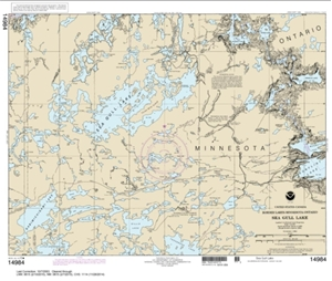 Picture of 14984 - Boundary Waters - Sea Gull Lake Nautical Chart