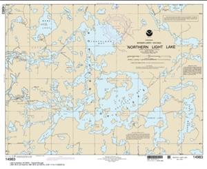 Picture of 14983 - Boundary Waters - Northern Light Lake Nautical Chart
