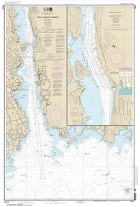 Picture of 13213 - New London Harbor And Vicinity Nautical Chart