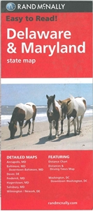 Picture of Delaware & Maryland State Travel Map