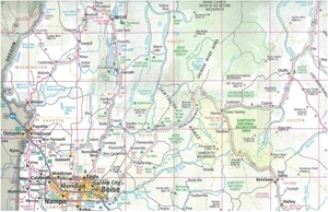 Picture of Idaho State Travel Map