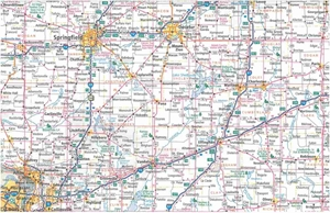 Picture of Illinois State Highway Folded Travel Map