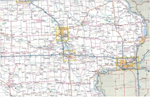 Picture of Iowa State Travel Map