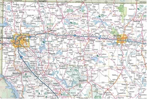 Picture of Louisiana State Travel Map