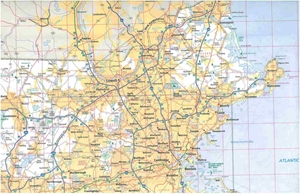 Picture of Massachusetts State Travel Map