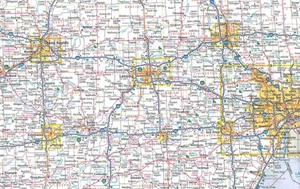 Picture of Michigan State Travel Map