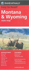 Picture of Montana & Wyoming State Travel Map
