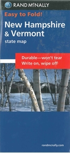 Picture of New Hampshire & Vermont Easy to Fold State Map
