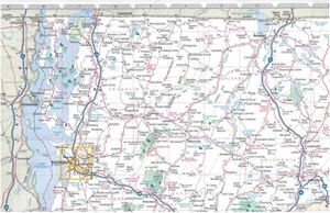 Picture of New Hampshire & Vermont State Travel Map