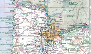 Picture of Oregon State Travel Map