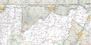 Picture of West Virginia State Map