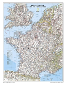 Picture of National Geographic France, Belgium, and The Netherlands Wall Map