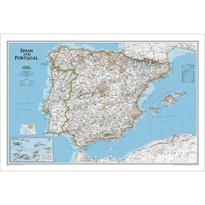 Picture of National Geographic Spain and Portugal Wall Map