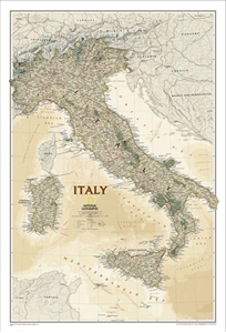 Picture of National Geographic Italy Executive Wall Map
