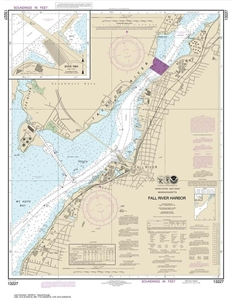 Picture of 13227 - Fall River Harbor Nautical Chart