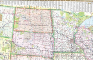 Picture of Central & Western United States Folded Map