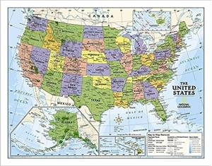 Picture of National Geographic Political U.S. Education Map