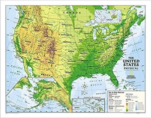 Picture of National Geographic Physical U.S. Education Map