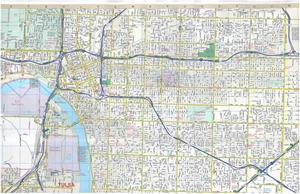 Picture of Tulsa, Oklahoma street map