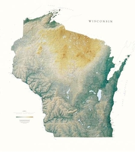 Picture of Wisconsin Raven Wall Map