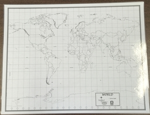 Picture of Black & White World Map