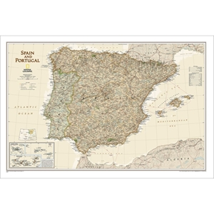 Picture of National Geographic Spain and Portugal Executive Wall Map