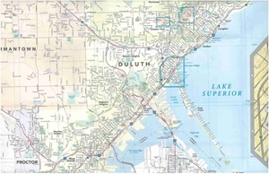 Picture of Duluth Minnesota & Superior Wisconsin Folded Street Map